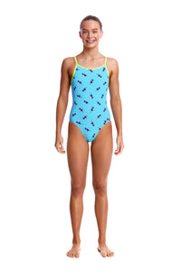 LAST ONE! Funkita Girls Diamond Back One Piece<br/>Tweety Tweet