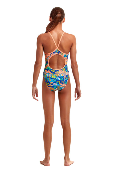 NEW! Funkita Girls Diamond Back One Piece Wacky West