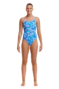 Funkita Ladies Diamond Back One Piece<br/>BooBam Blue