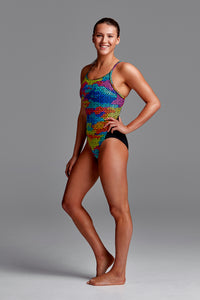 LAST ONE! Funkita Ladies Diamond Back One Piece<br/>Celtic Pride