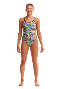 NEW! Funkita Ladies Diamond Back One Piece<br/>Fossil Fuel