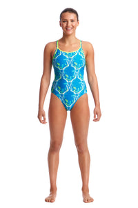 Funkita Ladies Diamond Back One Piece<br/>Thirsty Cow