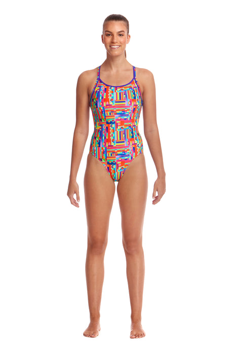 LAST ONE! Funkita Ladies Diamond Back One Piece<br/>Top Spot