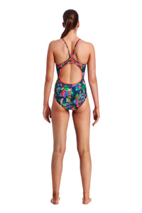 Funkita Ladies Diamond Back One Piece<br/>Tropic Tag