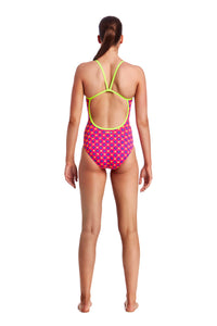 LAST ONE! Funkita Ladies Single Strap One Piece<br/> Daisy Dots