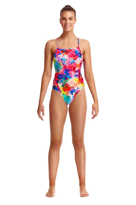 NEW! Funkita Ladies Single Strap One Piece<br/>Dye Another Day