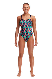 NEW! Funkita Ladies Single Strap One Piece<br/>Fish Taco
