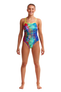 NEW! Funkita Ladies Single Strap One Piece<br/>Hyper Inflation