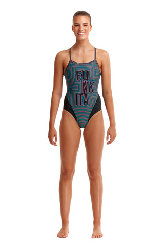 LAST ONE! Funkita Ladies Single Strap One Piece Use Your Illusion