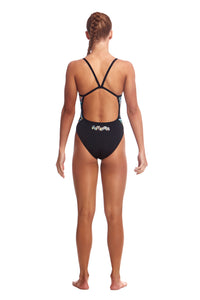 Funkita Girls Single Strap One Piece<br/>Abstracta