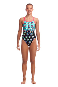 LAST ONE! Funkita Girls Single Strap One Piece<br/>Happy Feet