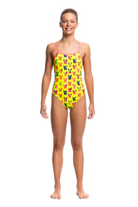 Funkita Girls Single Strap One Piece<br/>Hot Diggity
