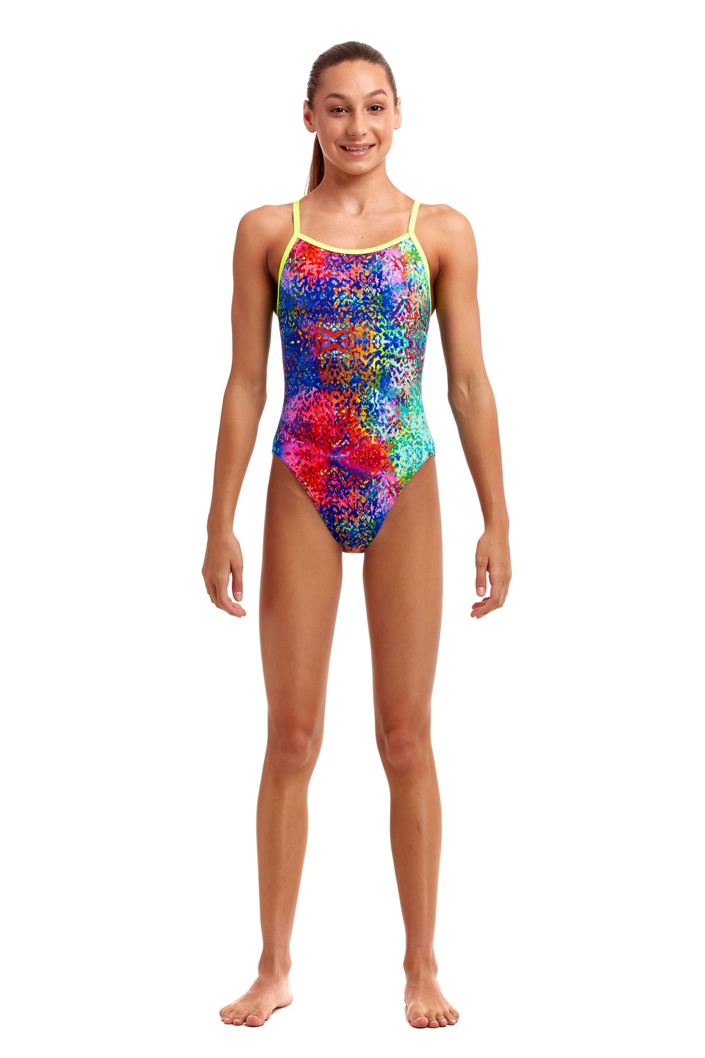 Funkita Girls Single Strap One Piece<br/>Hyper Inflation