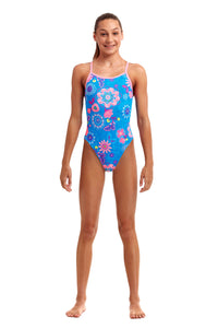 NEW! Funkita Girls Single Strap One Piece<br/>Lacy In The Sky
