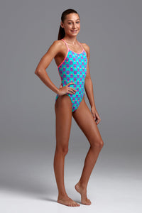 NEW! Funkita Girls Single Strap One Piece<br/>Love Bug