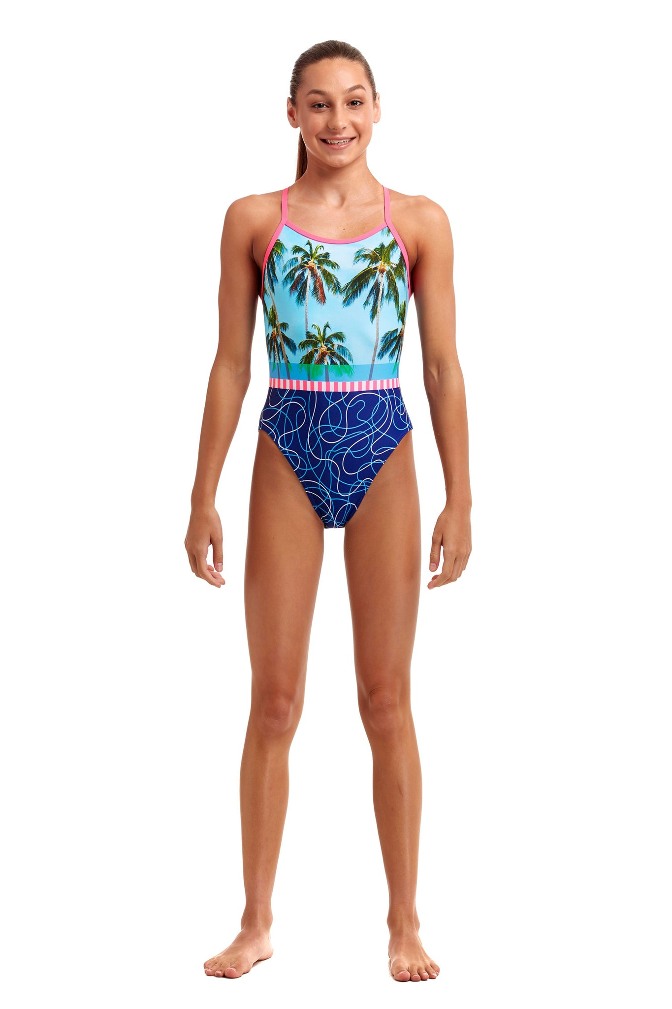 Funkita Girls Single Strap One Piece Lunchtime Dip