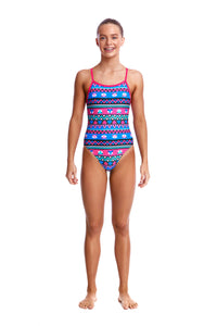 Funkita Girls Single Strap One Piece<br/>Miss Foxy