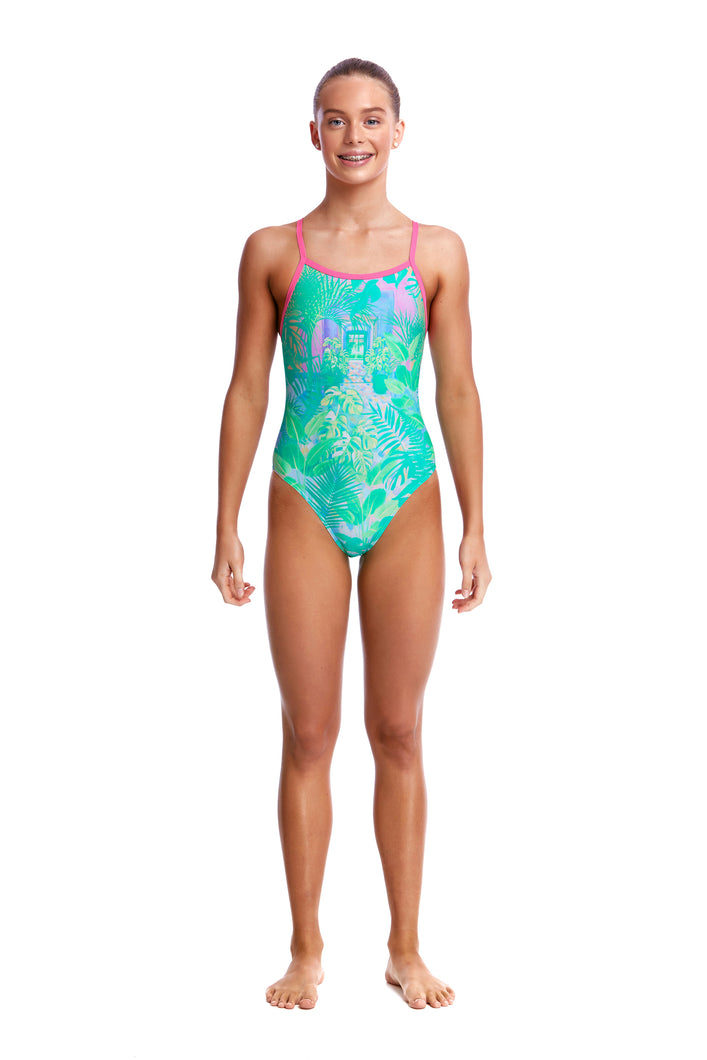 LAST ONE! Funkita Girls Single Strap One Piece<br/>Ocean View