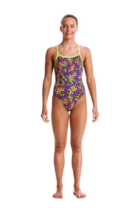 LAST ONE! Funkita Girls Single Strap One Piece<br/>The Fall