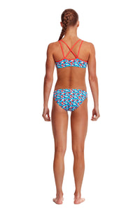NEW! Funkita Girls Criss Cross Two Piece<br/>Swallowed Up