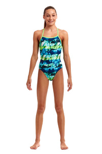 NEW! Funkita Girls Strapped In One Piece<br/>Icy Iceland