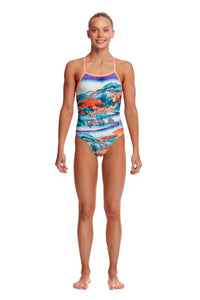 NEW! Funkita Girls Strapped In One Piece<br/>Misty Mountain