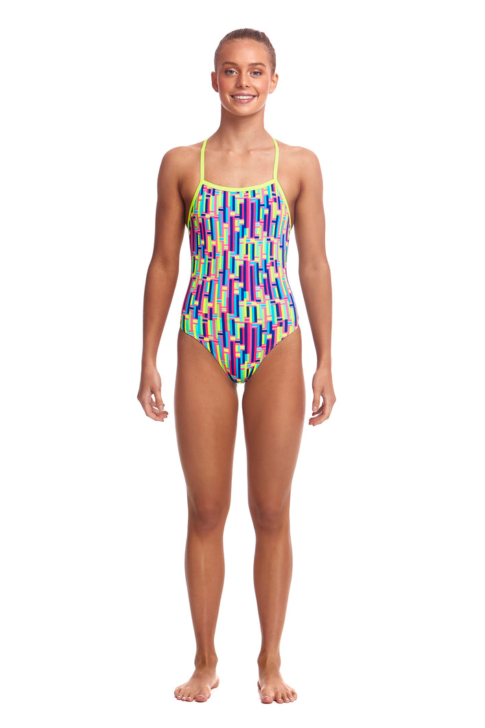 NEW! Funkita Girls Strapped In One Piece<br/>Mixed Signals
