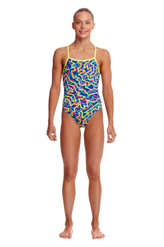 LAST ONE! Funkita Girls Strapped In One Piece Noodle Bar