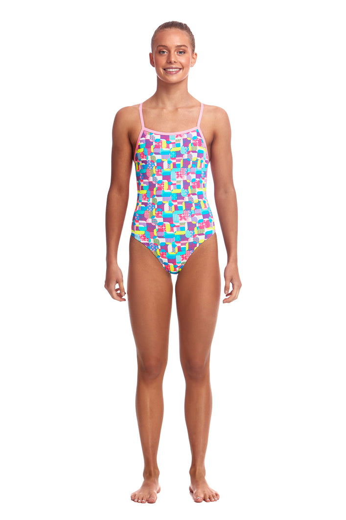 NEW! Funkita Girls Strapped In One Piece<br/>Patched Up