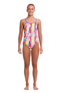 LAST ONE! Funkita Girls Strapped In One Piece<br/>Splat Stat