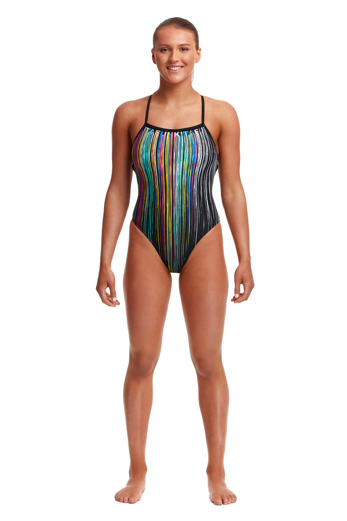 NEW! Funkita Ladies Strapped In One Piece<br/>Drip Funk