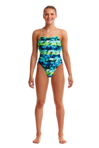 NEW! Funkita Ladies Strapped In One Piece Icy Iceland