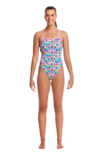 Funkita Ladies Strapped In One Piece<br/>Patched Up