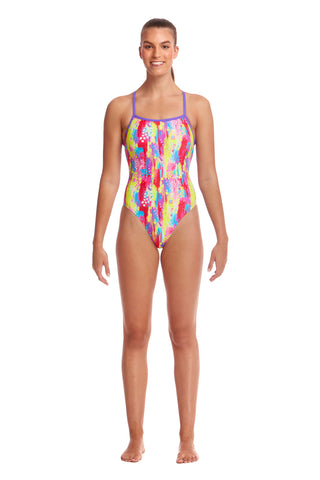 LAST ONE! Funkita Ladies Strapped In One Piece Splat Stat