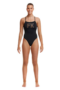 LAST ONE! Funkita Ladies Strapped In One Piece Stencilled
