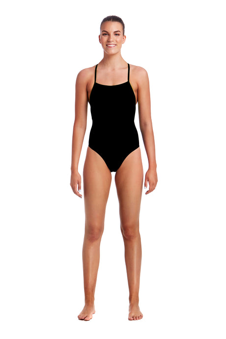 Funkita Ladies Strapped In One Piece<br/>Still Black