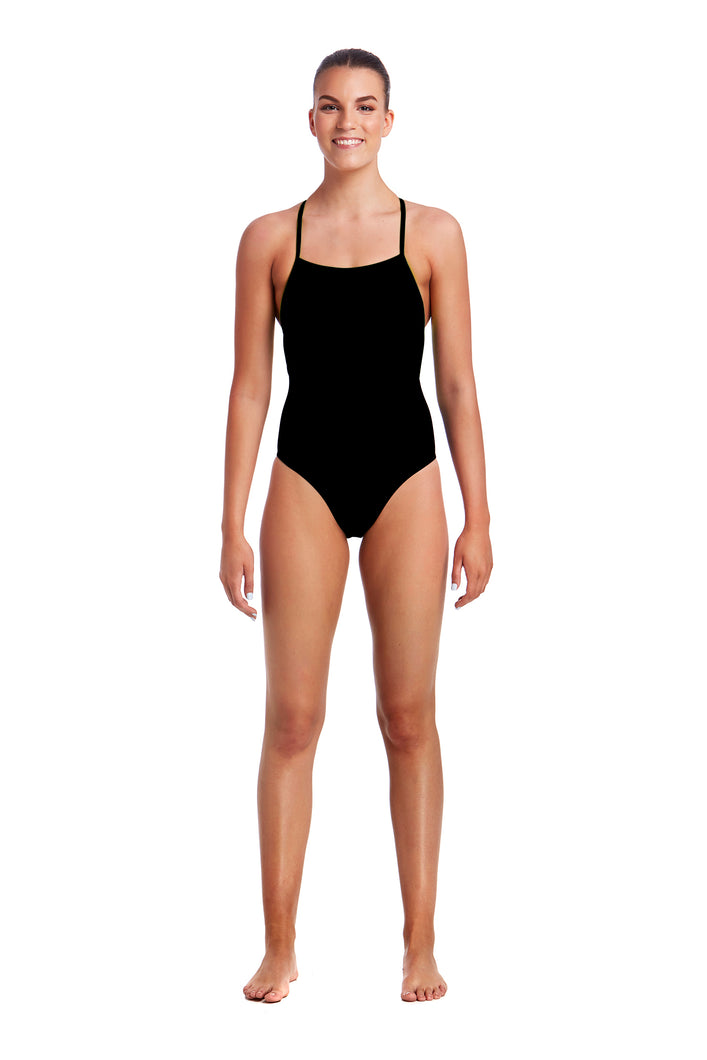 NEW! Funkita Ladies Strapped In One Piece<br/>Still Black