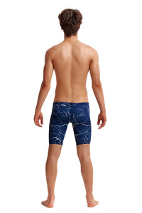 NEW! Funky Trunks Boys Training Jammers<br/>Silver Lining