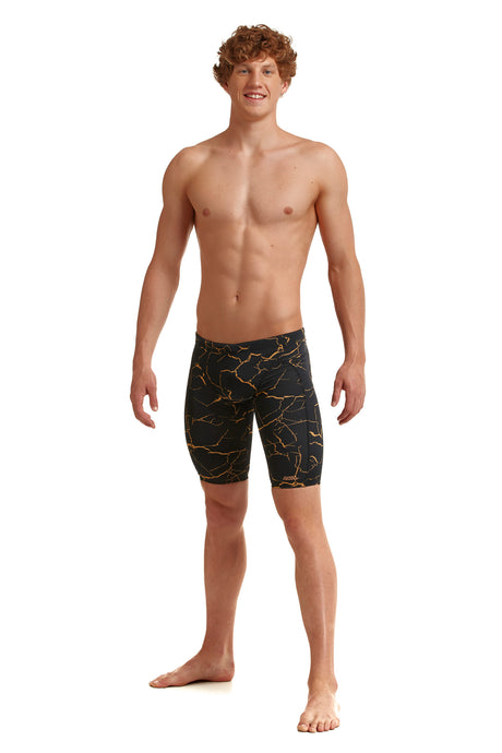 NEW! Funky Trunks Mens Training Jammers<br/>Cracked Gold
