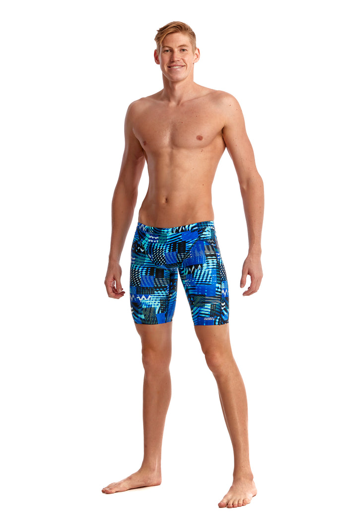 NEW! Funky Trunks Mens Training Jammers<br/>Electric Nights