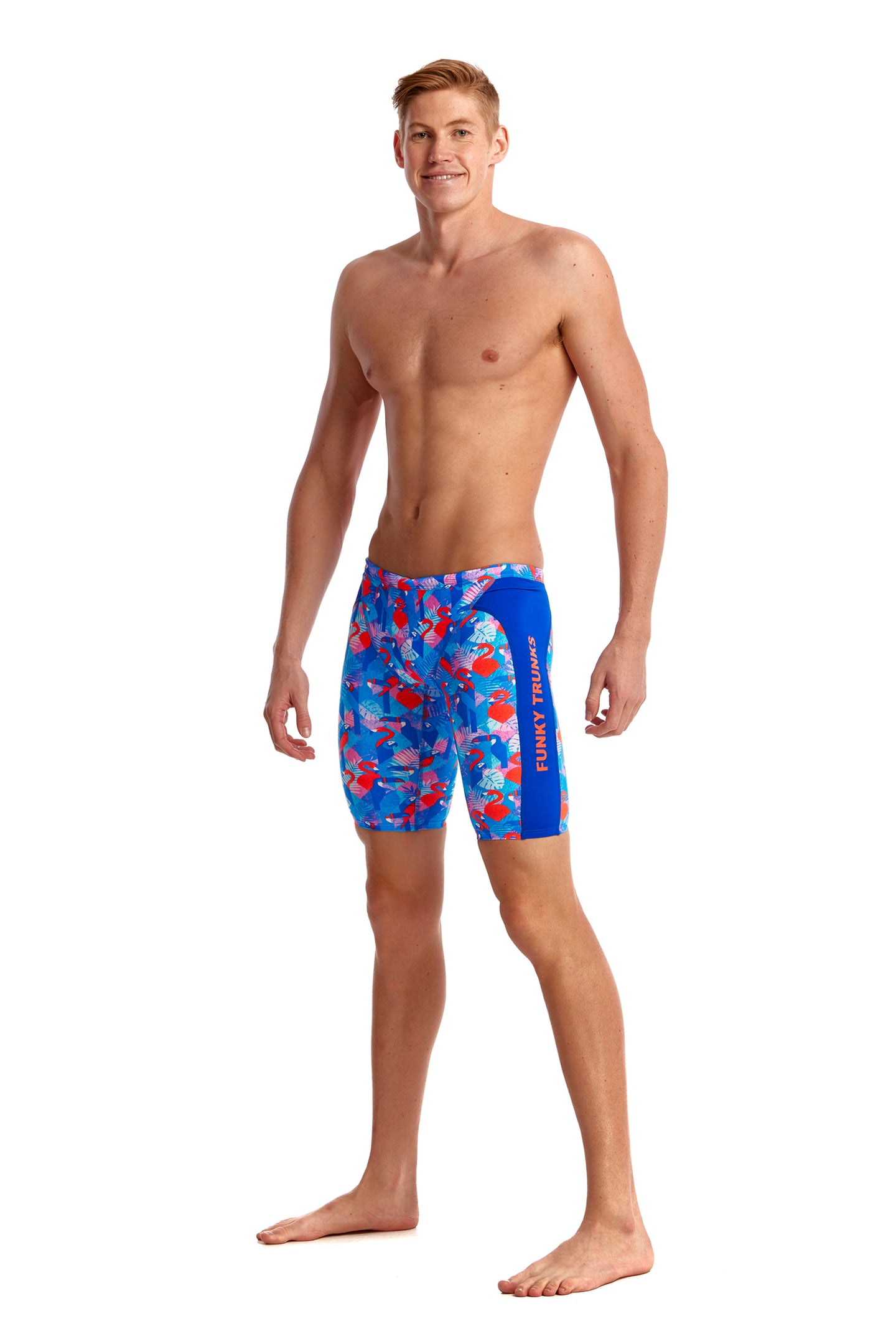 Funky Trunks Mens Training Jammers<br/>Flaming Vegas
