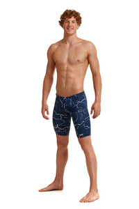 NEW! Funky Trunks Mens Training Jammers<br/>Silver Lining