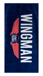 Funky Trunks Large Cotton Towel<br/>Navy Wingman
