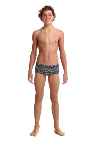 Funky Trunks Boys Eco Classic Trunks Zebra Crossing
