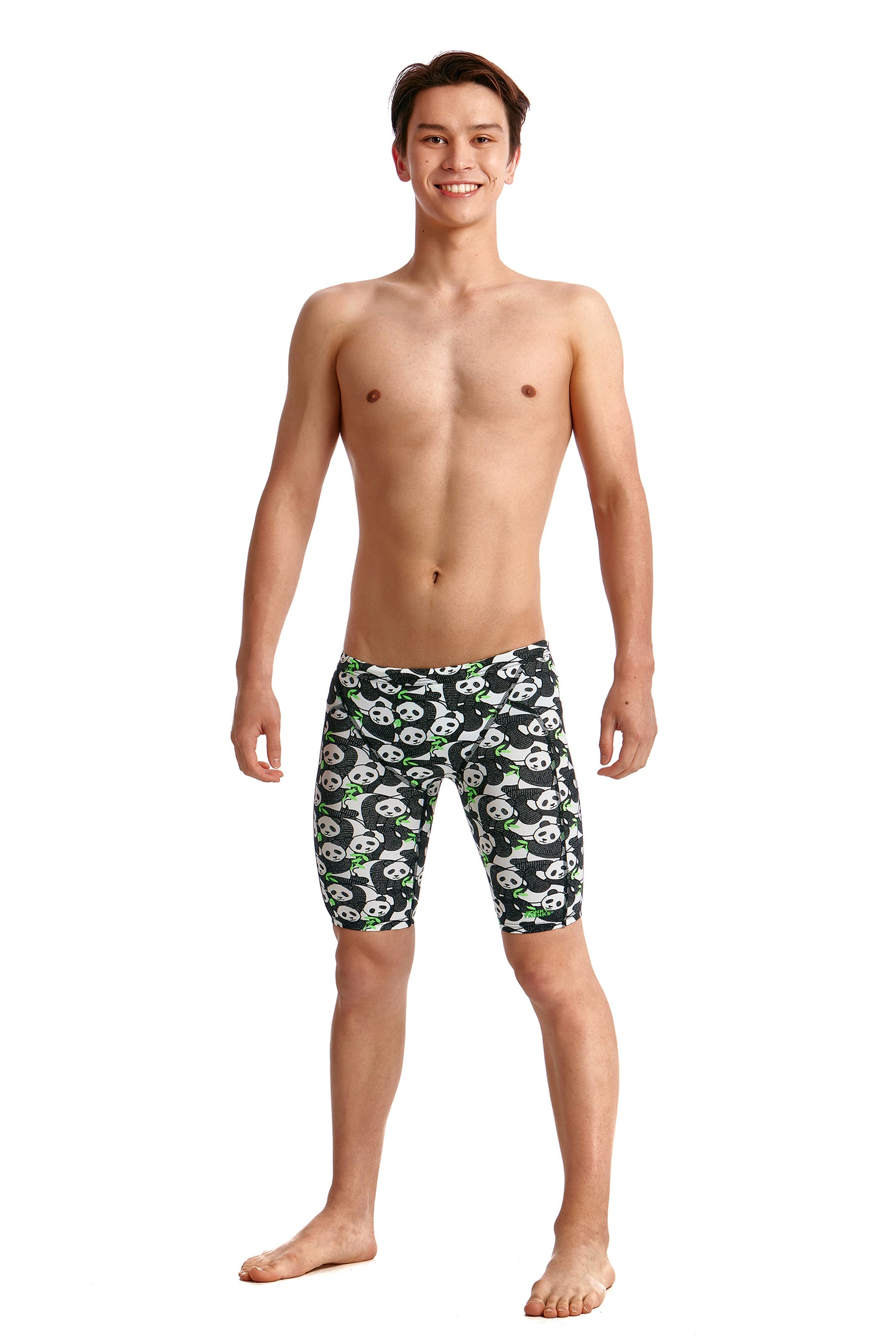 LAST ONE! Funky Trunks Boys Eco Training Jammers<br/>Pandaddy