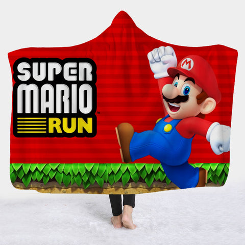 Super Mario Hooded Blanket