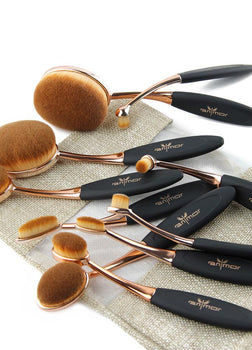 10pcs/set Oval Makeup Brush Set