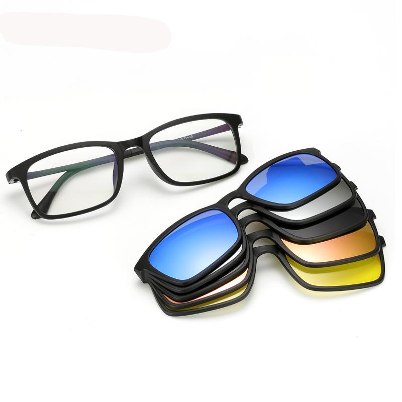 5 In 1 Magnetic Lens Polarized Sunglasses
