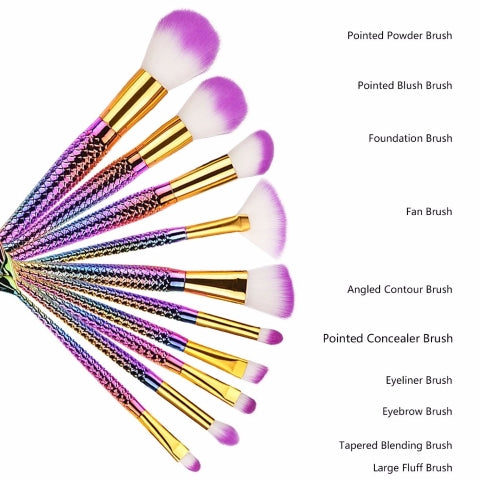 10 Pcs Eyeshadow Makeup Brushes