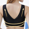 Image of Front Zipper Closure Wirefree Extra Breathable Silk Bra
